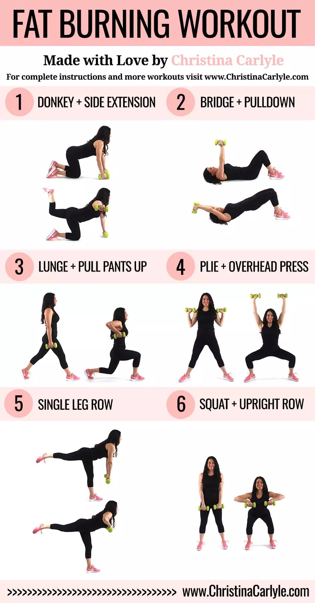 Fat Burning Workout for Women being done by trainer Christina Carlyle