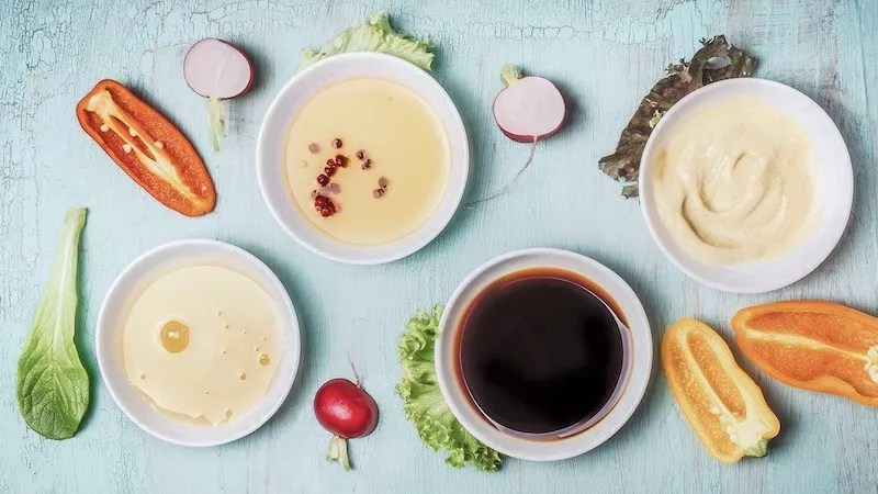 Healthy Dipping Sauces and Salad Dressings