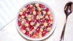 Cowboy caviar bean salad on a table