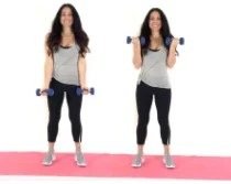 Bicep Curl Exercise being done by trainer Christina Carlyle