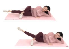 Inner thigh pulse exercise being done by trainer Christina Carlyle