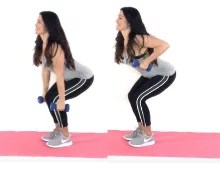 Pull your pants up Arm Exercise being done by trainer Christina Carlyle