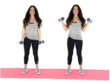 Side Curl Arm Exercise being done by Christina Carlyle