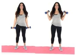 Side Curl Arm Exercise being done by trainer Christina Carlyle