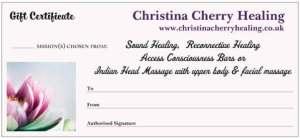 Christina Cherry Healing Voucher