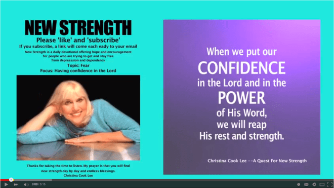 When we put our confidence in the Lord and in the power of His Word, we will reap His rest and strength. --Christina Cook Lee, A Quest For New Strength