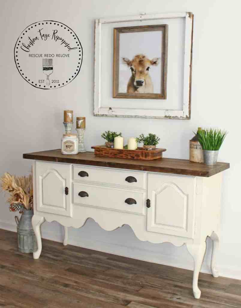 Buffet Makeover on a Budget Completed.