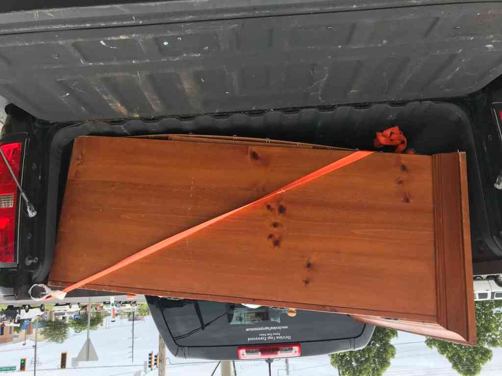 Thrift Store Cabinet Loaded in Truck
