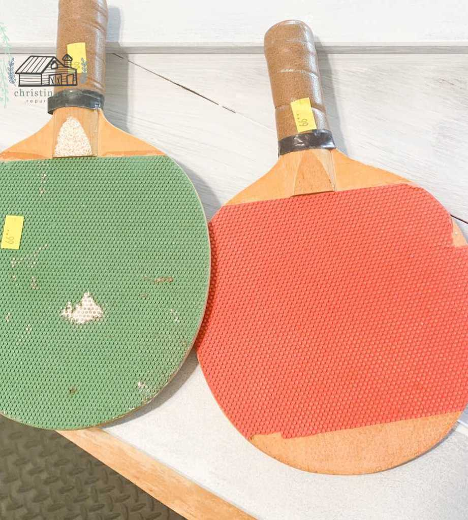 Ping Pong Paddles Before Makeover