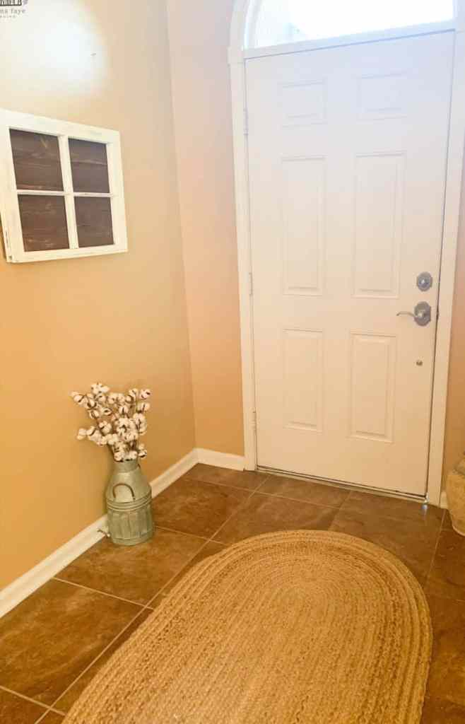 Entry way with rug