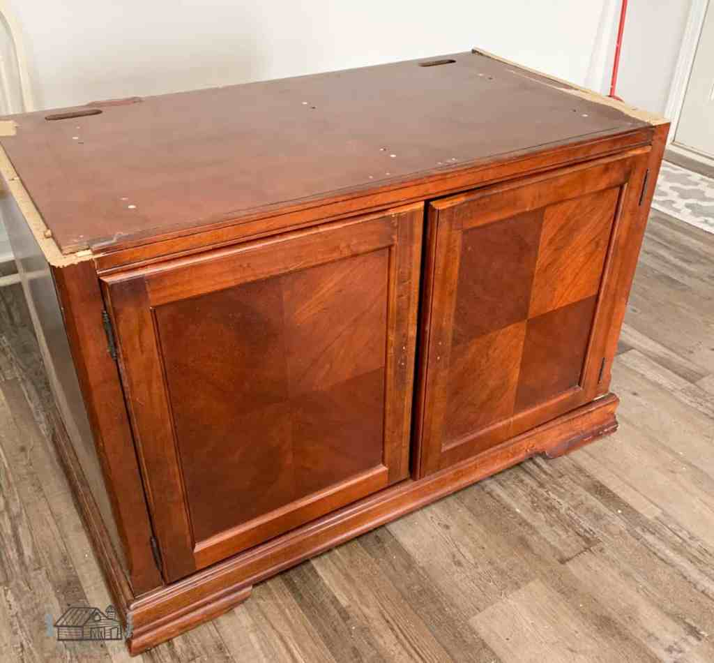 Television Armoire Cabinet With Top Removed