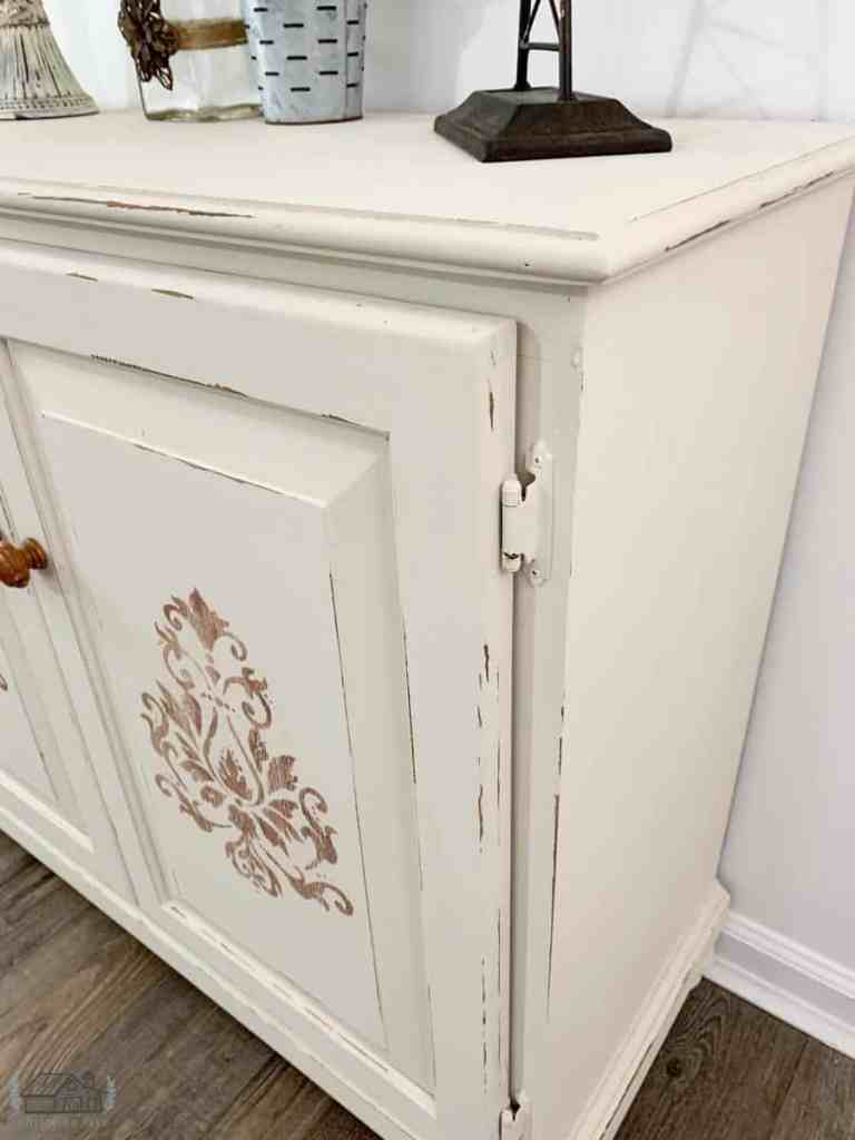 Side shot of kitchen cabinet