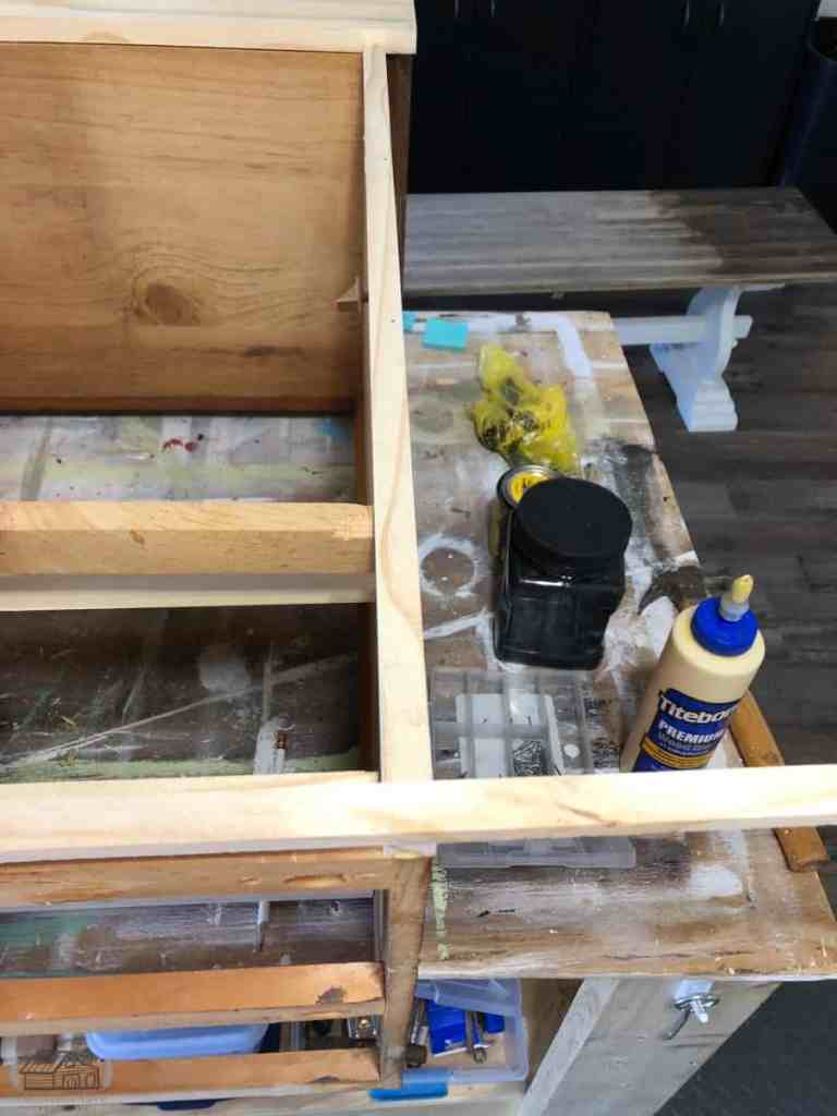 Adding Trim to Back of Sideboard Cabinet
