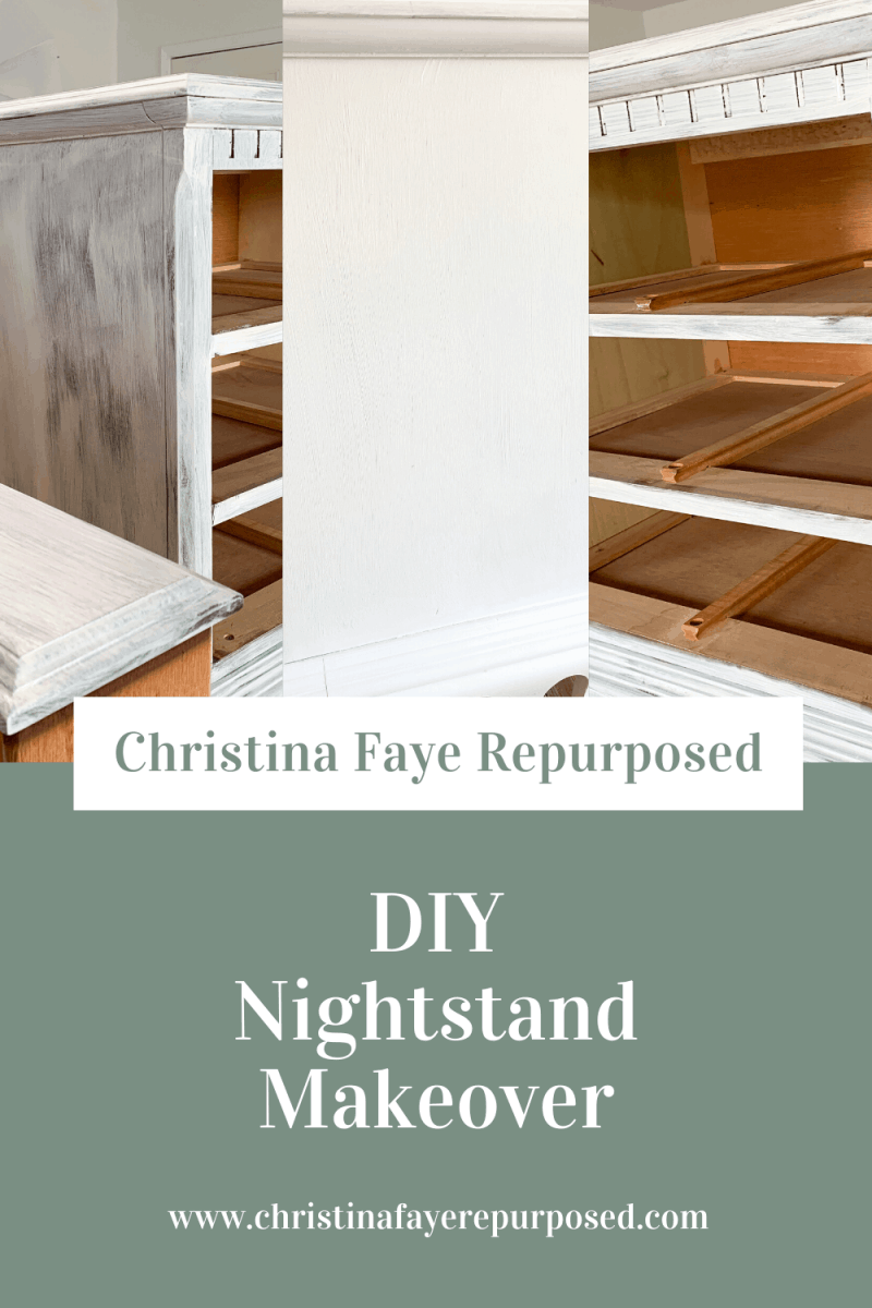Diy Nightstand Makeover Christina Faye Repurposed