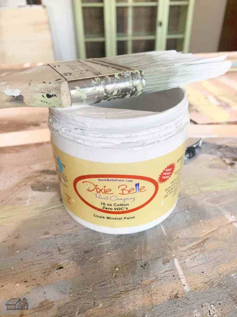 Jar of Dixie Belle Paint in Cotton
