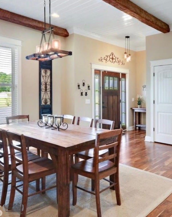 Farm Table in Home