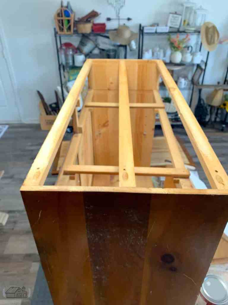 Top Removed From Sideboard Cabinet