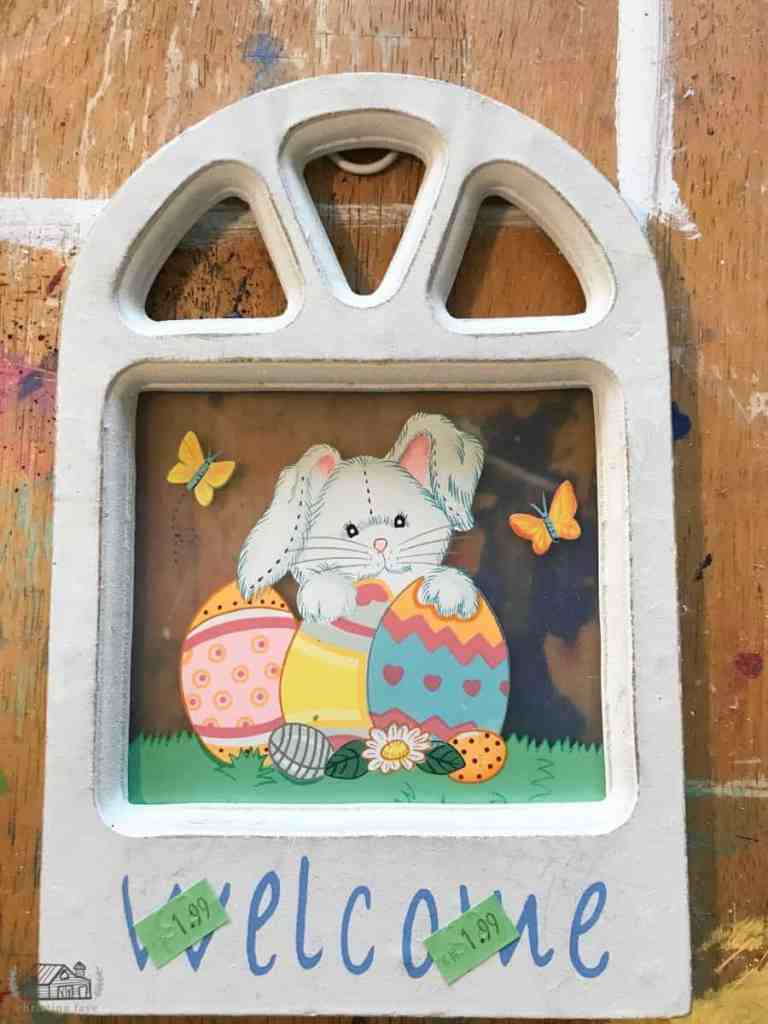 Old Easter frame decor.