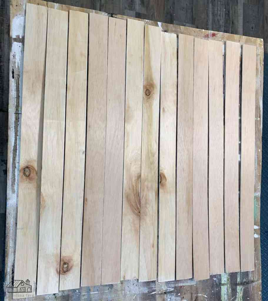 Wood planks cut to size