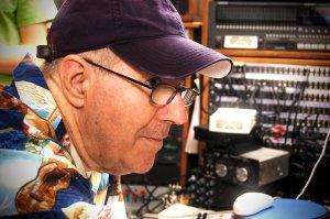 Dad in his studio, December 2012