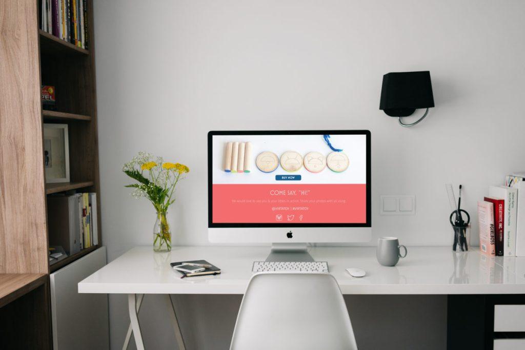 Seattle visual designer website mockup
