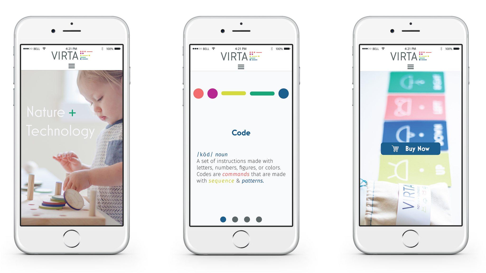 Virta Mobile Website Design