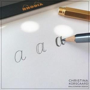 Kunstig kalligrafi - ekstra bredde til linjerne