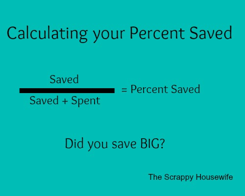 Coupon Math - Calculating Your Percent Saved