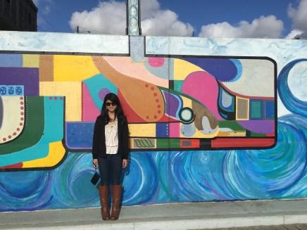 Graffiti art along the boardwalk at Playas Tijuana