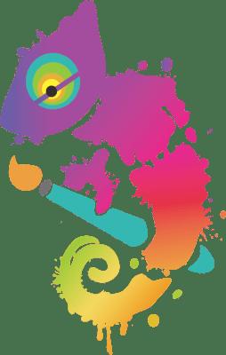 Christina Masci logo - chameleon