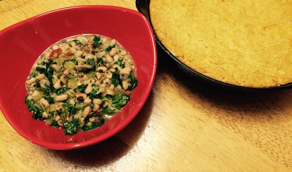 hoppin john and corn bread