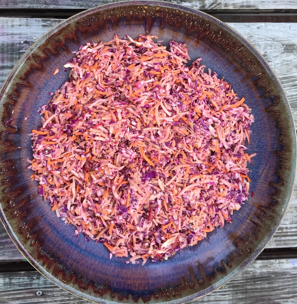 autumn apple cabbage slaw