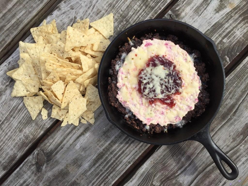 black bean raspberry dip