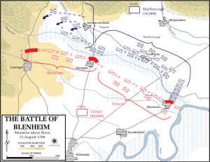 Battle of Blenhiem - Situation about noon, 13 August 1704/The Department of History, United States Military Academy