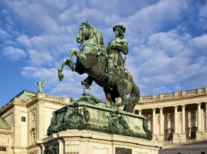 Prince Eugene of Savoy in front of the Hofburg Palace, Vienna
