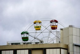The small ferris wheel in Nagoya, Japan.