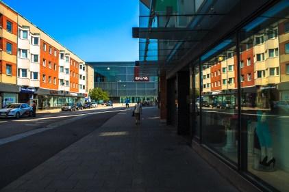 Reflection at shoppingmall Entré in Malmö, Sweden.