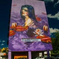 Ofelia - giant mural by Natalia Rak in Borås, Sweden