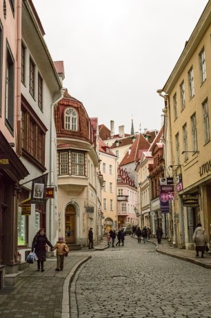 The medieval town of Tallinn in Estonia.