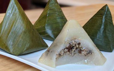 Banh gio (gâteau pyramide à la vapeur)
