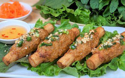 Chao tom (pâté de crevettes sur canne à sucre)