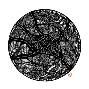 """Altered Alchemy"" - abstract black and white art by Christina Rivera-Scott"