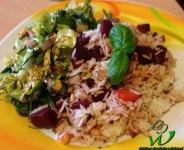 Rüben Gemüsereis mit Mischsalat