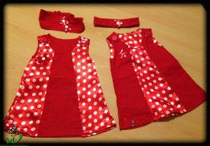 rote-selbermacher-Kleidchen-Gr-74