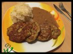 Polenta-Puffer-mit-Sauerkraut