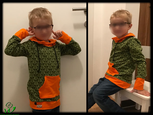 Leo langarm Tragefoto Charlotte-orange