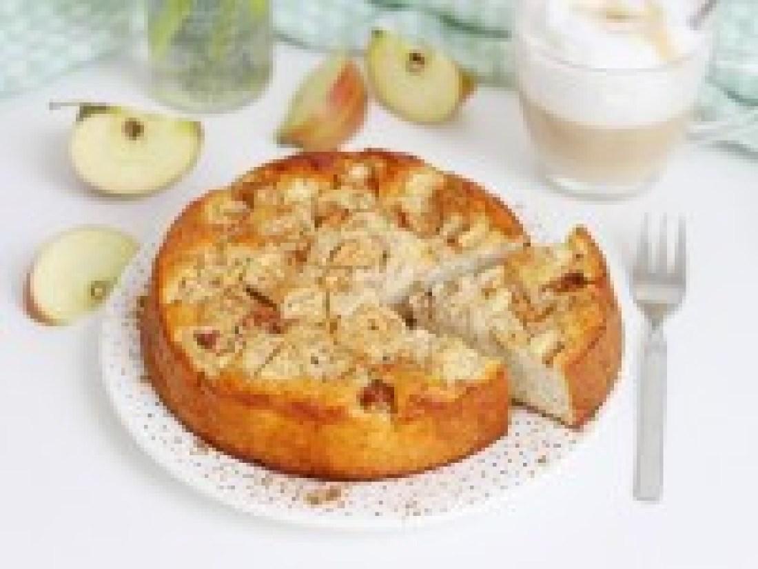 Gesunder, Apfelkuchen, Rezept, rund