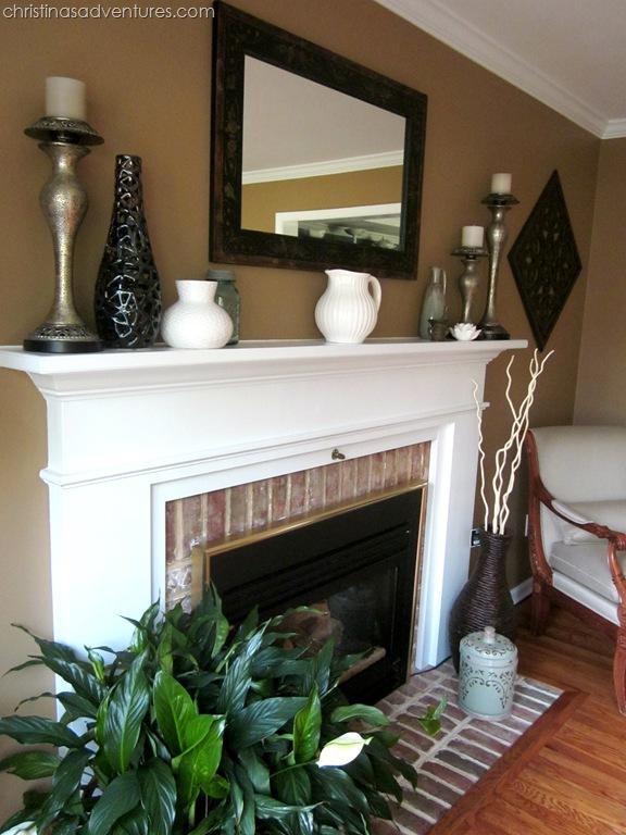 Living Room Make Over Tan White Blue Christinas