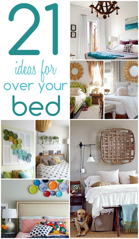 ideas for decor above bed - decorating ideas