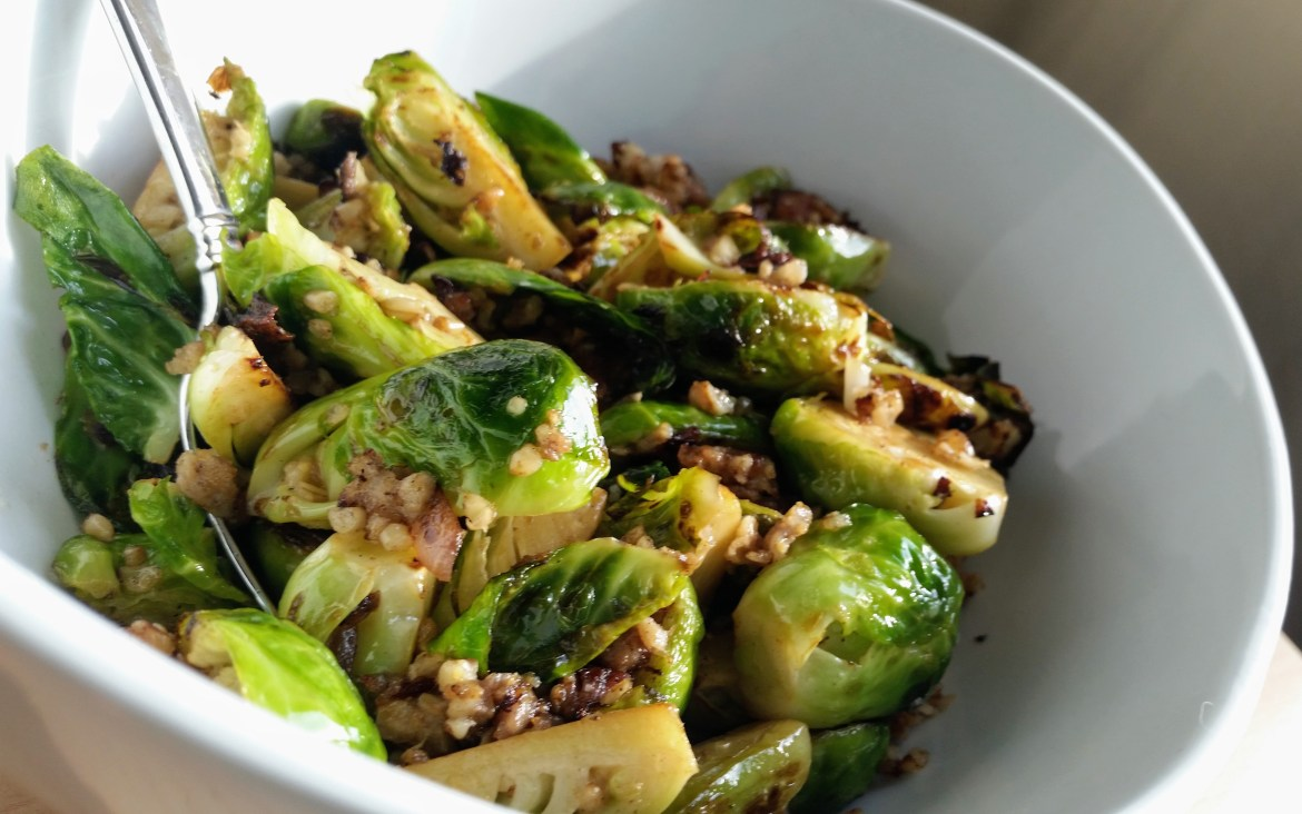 Goetta Brussels Sprouts